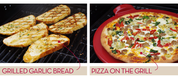 Grilled Garlic Bread and Pizza on the Grill!