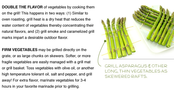 Fresh Vegetables on the Grill