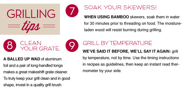 Grilling Tips 7-9