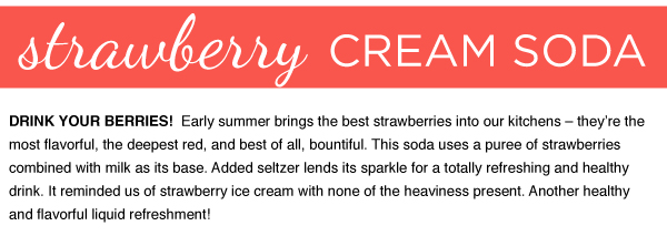 RECIPE: Strawberry Cream Soda