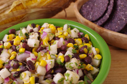 Fiery Black Bean, Roasted Corn, and Jicama Salsa