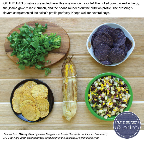 RECIPE: Fiery Black Bean, Roasted Corn, & Jicama Salsa