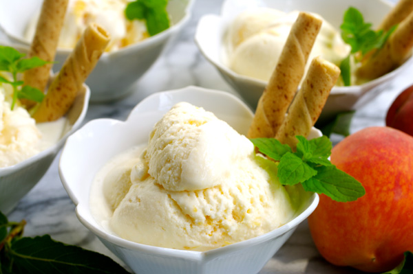 Peach Ice Cream Peach Ice Cream
