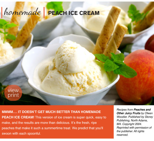 RECIPE: Homemade Peach Ice Cream