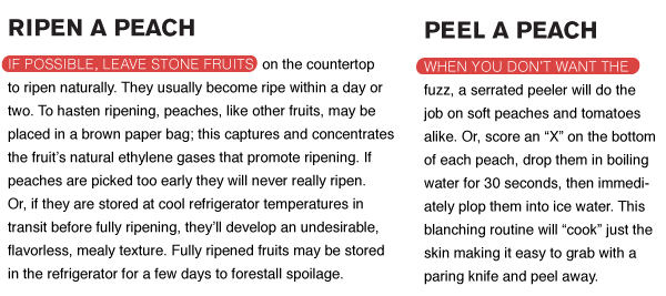 Ripen and Peel a Peach