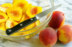 Cutting Peach Slices