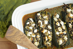 Stuffed Poblanos in Chipotle Sauce