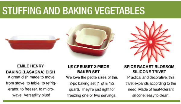 Stuffing and Baking Vegetables