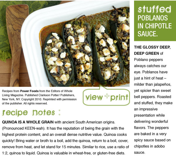 RECIPE: Stuffed Poblanos in Chipotle Sauce
