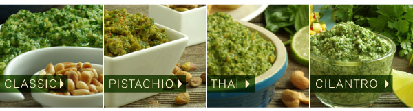Pesto Four Ways