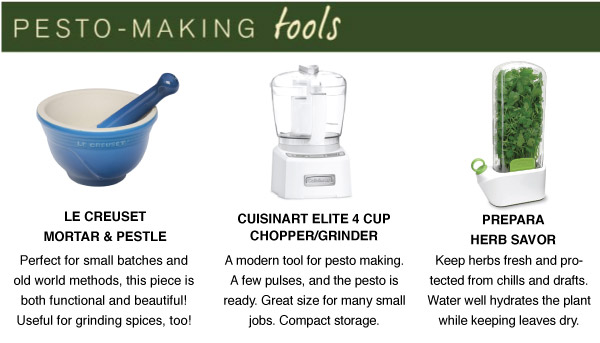 Pesto-Making Tools