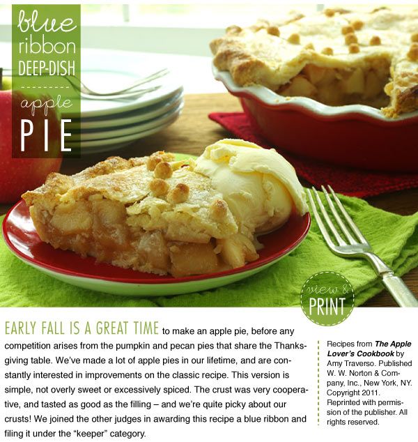 RECIPE: Blue Ribbon Deep-Dish Apple Pie