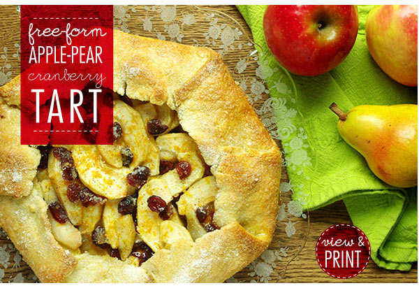 RECIPE: Free-Form Apple-Pear-Cranberry Tart