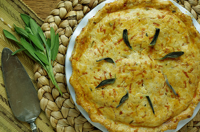 ork and Apple Pie with Cheddar-Sage Crust