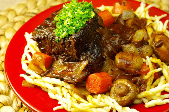 Red Wine-Braised Short Ribs