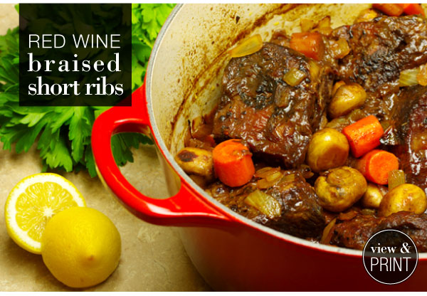 RECIPE: Red Wine Braised Short Ribs