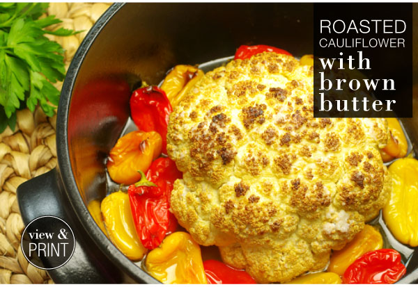RECIPE: Roasted Cauliflower with Brown Butter
