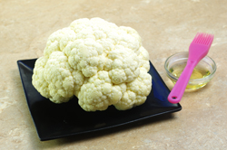 Oiling the Cauliflower