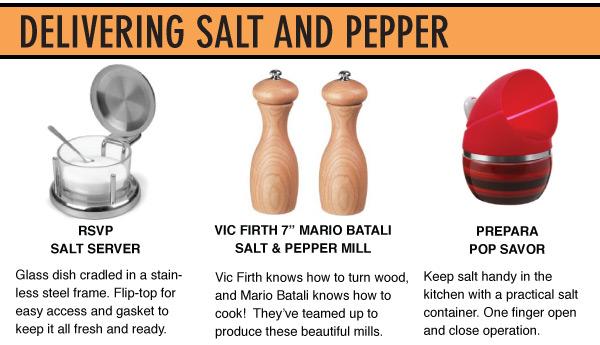 Delivering Salt and Pepper