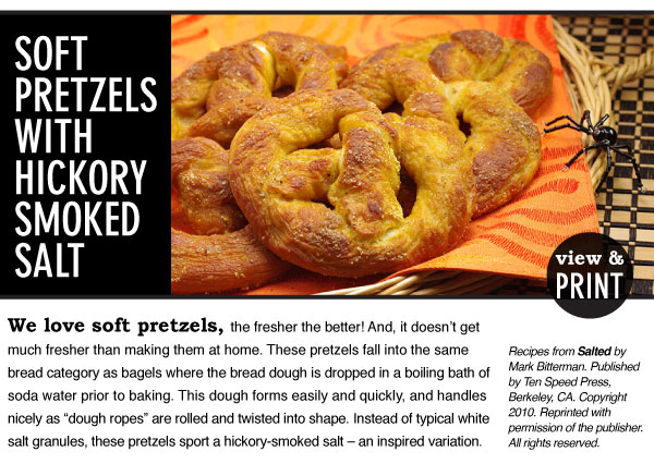 RECIPE: Soft Pretzels with Hickory Smoked Salt