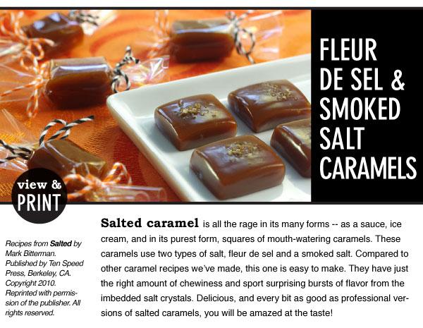 RECIPE: Fleur De Sel & Smoked Salt Caramels