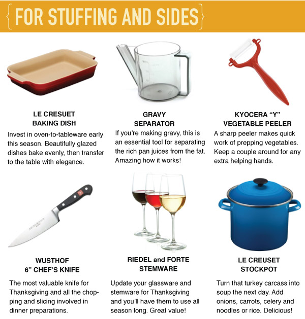 For Stuffing and Sides