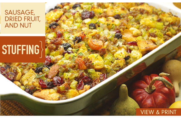 RECIPE: Sausage, Dried Fruit, and Nut Stuffing