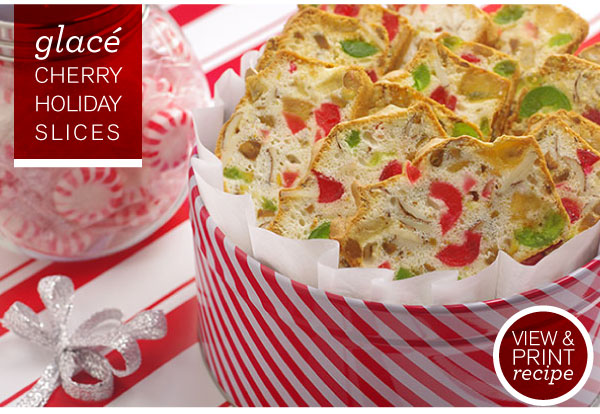 RECIPE: Glace Cherry Holiday Slices