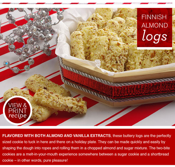 RECIPE: Finnish Almond Logs