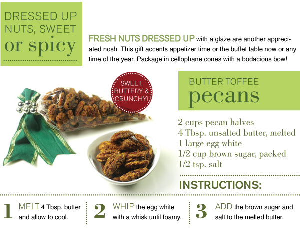 RECIPE: Butter Toffee Pecans