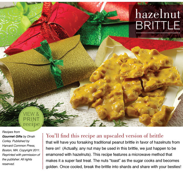 RECIPE: Hazelnut Brittle