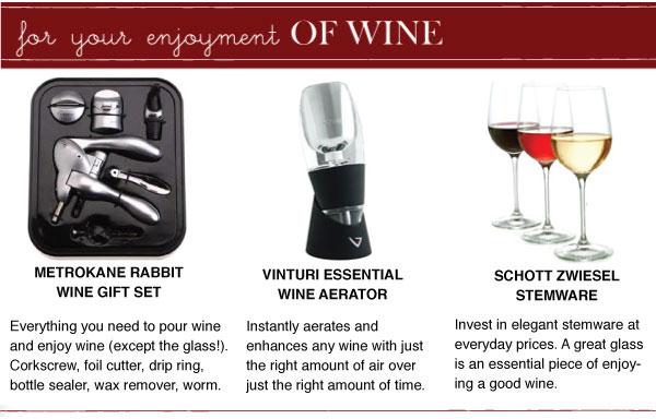 For Enjoying Wine