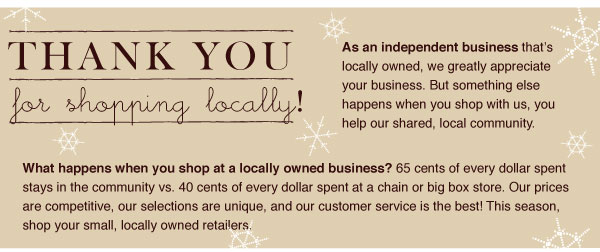 Thank You for Shopping Locally