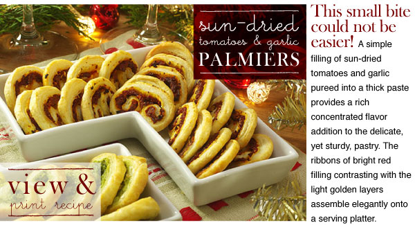 RECIPE: Tomato Palmiers