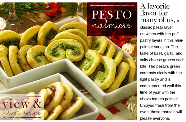 RECIPE: Pesto Palmiers
