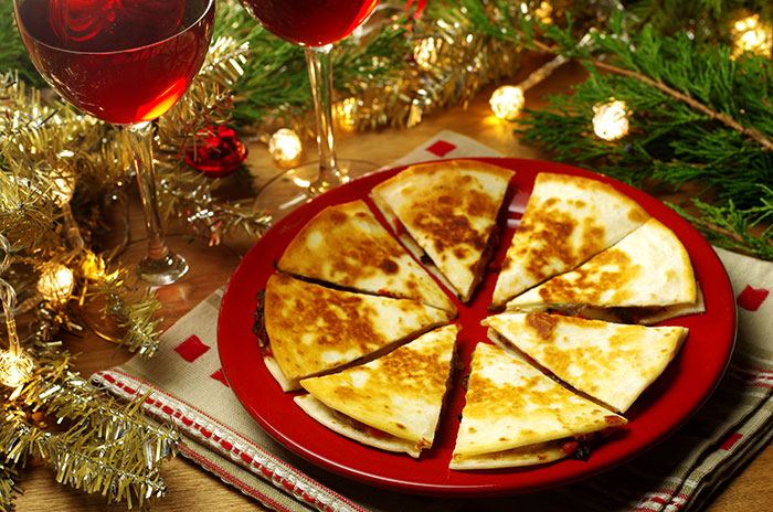 Manchego Quesadillas with Roasted Red Peppers and Onions