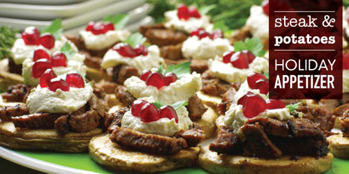 Steak and Potatoes Appetizer
