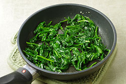 Sauteeing Spinach