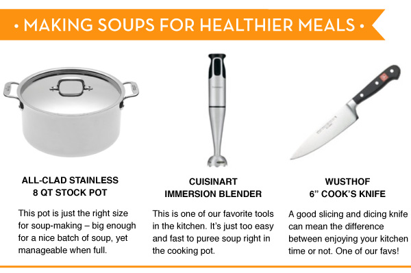 Making Soups for Healthier Meals