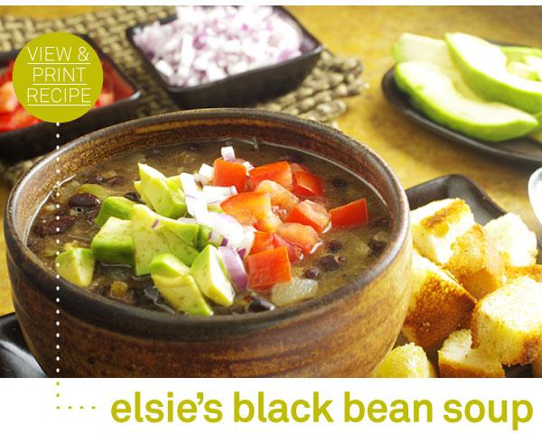 RECIPE: Elsie's Black Bean Soup