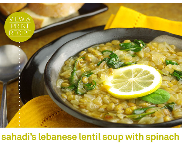 RECIPE: Sahadi's Lebanese Lentil Soup with Spinach
