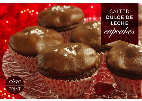 RECIPE: Salted Dulce De Leche Cupcakes
