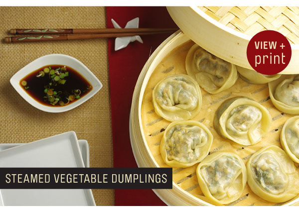 RECIPE: Steamed Vegetable Dumplings