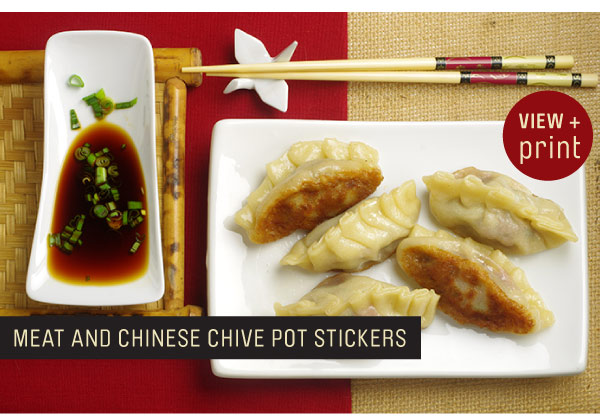 RECIPE: Meat and Chinese Chive Pot Stickers