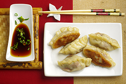 Meat and Chinese Chive Pot Stickers 