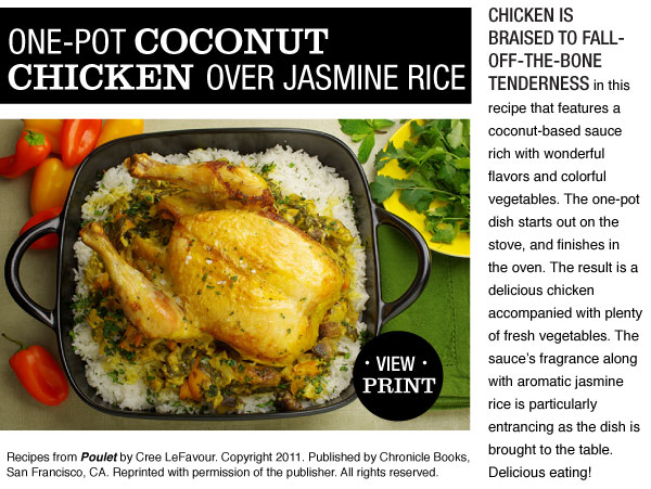 RECIPE: One Pot Chicken over Jasmine Rice