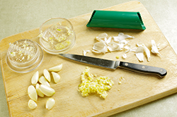 Prepping Garlic