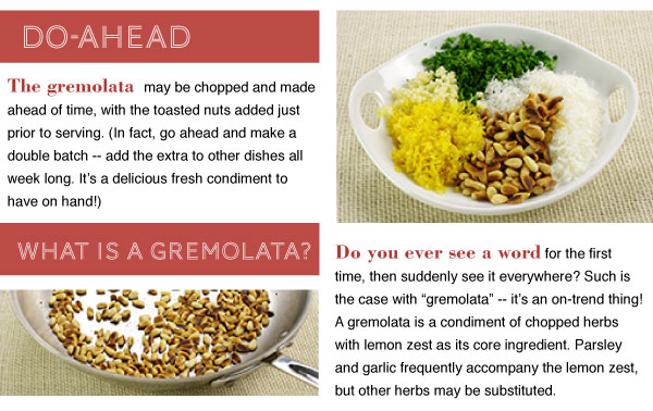 Do Ahead and Gremolata