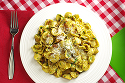 Orecchiette with Artichokes and Bacon