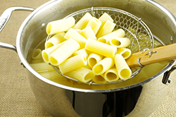 Straining the Rigatoni